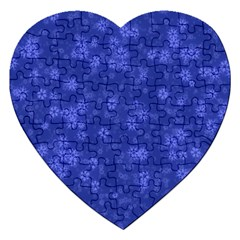 Snow Stars Blue Jigsaw Puzzle (Heart)