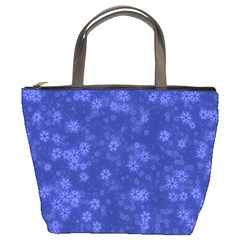 Snow Stars Blue Bucket Bags