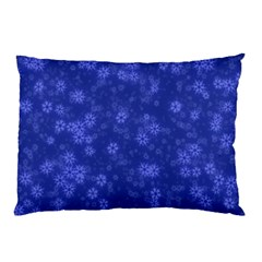 Snow Stars Blue Pillow Cases