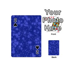 Snow Stars Blue Playing Cards 54 (Mini)
