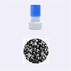 Snow Stars Blue Rubber Round Stamps (small)