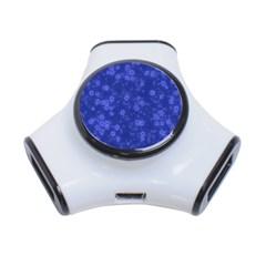 Snow Stars Blue 3-Port USB Hub