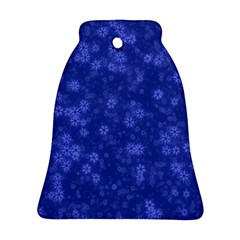 Snow Stars Blue Ornament (Bell)
