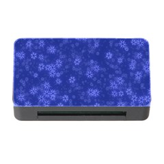 Snow Stars Blue Memory Card Reader with CF