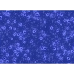 Snow Stars Blue Birthday Cake 3d Greeting Card (7x5)