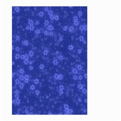 Snow Stars Blue Small Garden Flag (Two Sides)