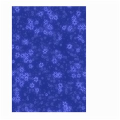 Snow Stars Blue Large Garden Flag (Two Sides)