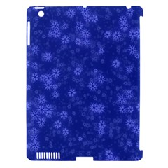 Snow Stars Blue Apple iPad 3/4 Hardshell Case (Compatible with Smart Cover)