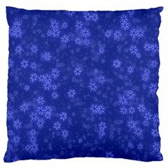 Snow Stars Blue Large Cushion Cases (One Side)