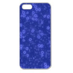 Snow Stars Blue Apple Seamless iPhone 5 Case (Clear)