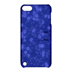 Snow Stars Blue Apple iPod Touch 5 Hardshell Case with Stand