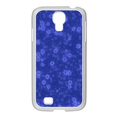 Snow Stars Blue Samsung GALAXY S4 I9500/ I9505 Case (White)