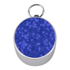 Snow Stars Blue Mini Silver Compasses