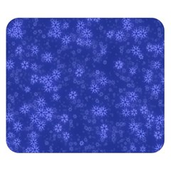 Snow Stars Blue Double Sided Flano Blanket (Small)
