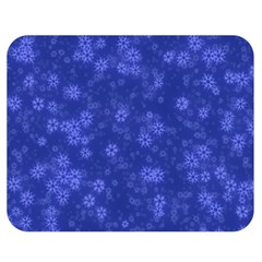 Snow Stars Blue Double Sided Flano Blanket (medium)