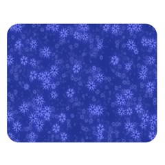 Snow Stars Blue Double Sided Flano Blanket (large)