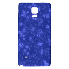 Snow Stars Blue Galaxy Note 4 Back Case