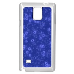 Snow Stars Blue Samsung Galaxy Note 4 Case (White)
