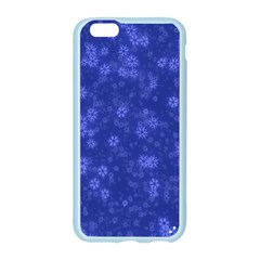 Snow Stars Blue Apple Seamless iPhone 6/6S Case (Color)