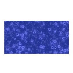 Snow Stars Blue Satin Wrap