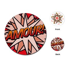 Comic Book Amour!  Playing Cards (Round)