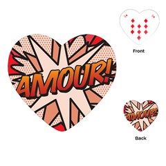 Comic Book Amour!  Playing Cards (Heart)
