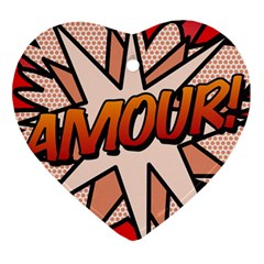 Comic Book Amour!  Heart Ornament (2 Sides)