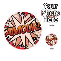 Comic Book Amour!  Playing Cards 54 (round)