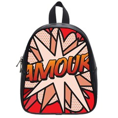 Comic Book Amour!  School Bags (Small)