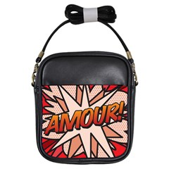 Comic Book Amour!  Girls Sling Bags