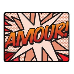 Comic Book Amour!  Fleece Blanket (Small)
