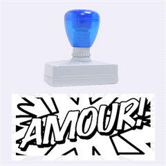 Comic Book Amour!  Rubber Stamps (large)