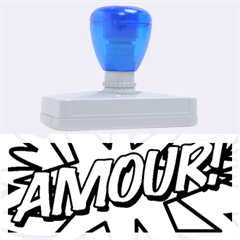 Comic Book Amour!  Rubber Address Stamps (xl)