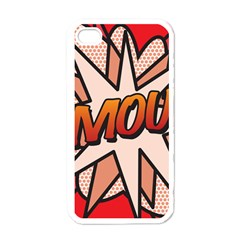 Comic Book Amour!  Apple iPhone 4 Case (White)