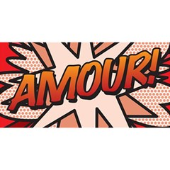 Comic Book Amour!  You Are Invited 3d Greeting Card (8x4)