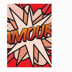 Comic Book Amour!  Large Garden Flag (two Sides)