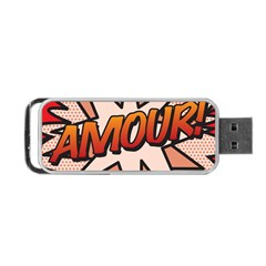 Comic Book Amour!  Portable USB Flash (Two Sides)