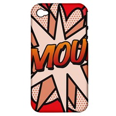 Comic Book Amour!  Apple iPhone 4/4S Hardshell Case (PC+Silicone)