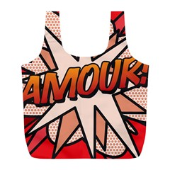 Comic Book Amour!  Full Print Recycle Bags (L)