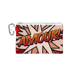 Comic Book Amour!  Canvas Cosmetic Bag (S)