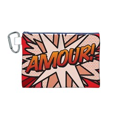Comic Book Amour!  Canvas Cosmetic Bag (M)
