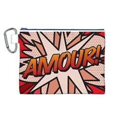 Comic Book Amour!  Canvas Cosmetic Bag (L)