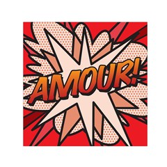 Comic Book Amour!  Small Satin Scarf (Square)