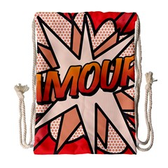Comic Book Amour!  Drawstring Bag (Large)