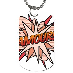 Comic Book Amour! Dog Tag (Two Sides)
