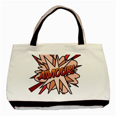 Comic Book Amour! Basic Tote Bag (Two Sides)