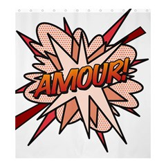 Comic Book Amour! Shower Curtain 66  x 72  (Large)