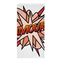 Comic Book Amour! Shower Curtain 36  x 72  (Stall)
