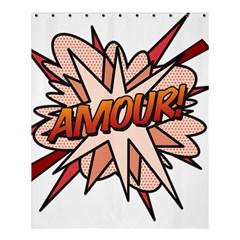 Comic Book Amour! Shower Curtain 60  x 72  (Medium)