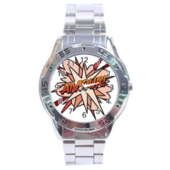 Comic Book Amour! Stainless Steel Men s Watch